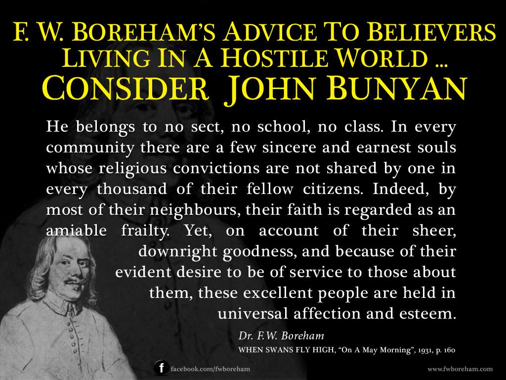 Consider John Bunyan