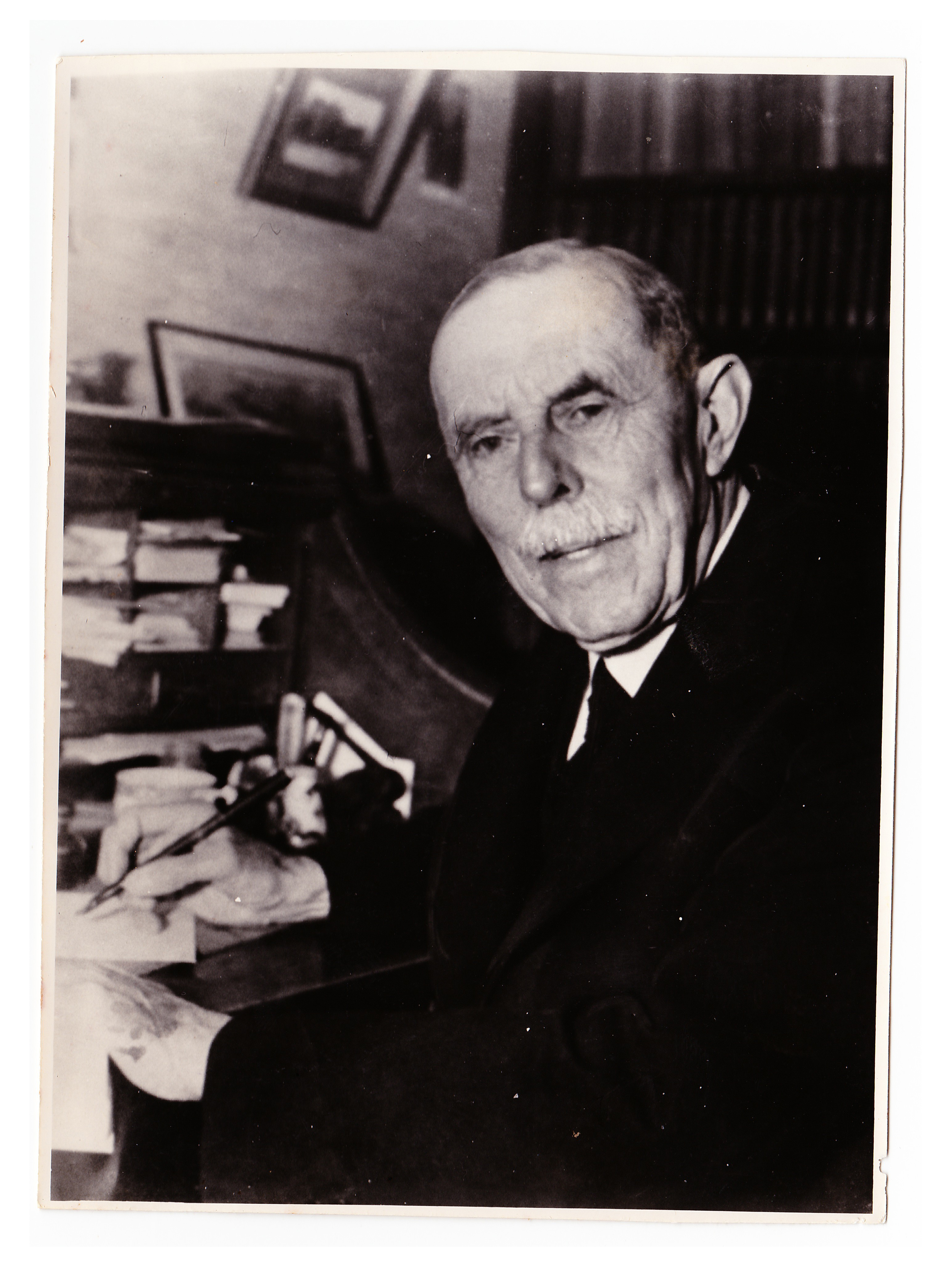 FWB at his writing-desk, 1953
