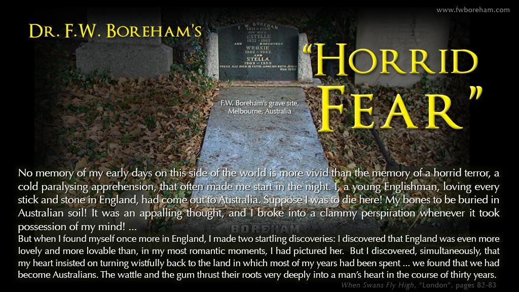 "FWB's ""Horrid Fear!"""