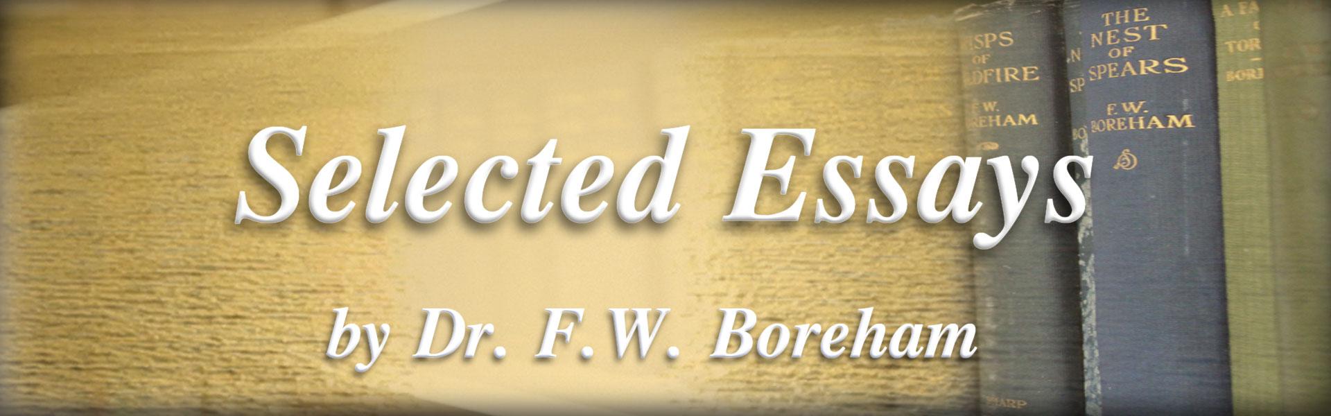 essays of f. w. boreham
